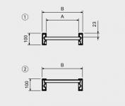 Hliníkové nájezdy MM100 3000 mm, max.nosnost 2330 kg Metalmec