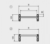 Hliníkové nájezdy MM125 5000 mm, max.nosnost 1965 kg Metalmec