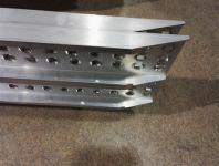 Hliníkové nájezdy přímé MM014S0 - 2500 mm, max.nosnost 1000 kg Metalmec