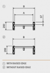 Hliníkové nájezdy M200 4000 mm, max.nosnost 10625 kg Metalmec