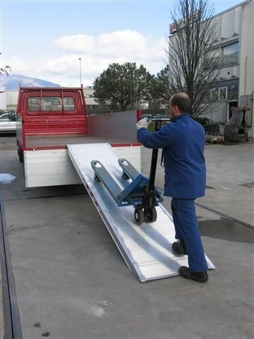 Hliníková nájezdová rampa MPC - 3600x1000 mm, max.nosnost 1000 kg Metalmec