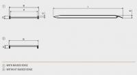 Hliníková nájezdová rampa MPC - 4000x1000 mm, max.nosnost 1000 kg Metalmec