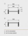 Hliníkové nájezdy M185 5000 mm, max.nosnost 5900 kg Metalmec