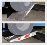 Zkrácené hliníkové nájezdy MM500 500 mm, max.nosnost 3000 kg