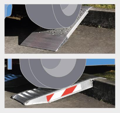 Zkrácené hliníkové nájezdy MM500 500 mm, max.nosnost 3000 kg Metalmec