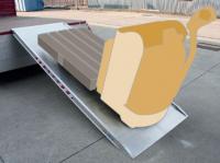 Nájezdové rampy zesílené šířka 1000 mm, 2000 kg